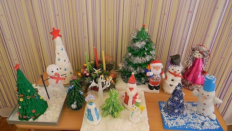 Поделки в детский сад на новый год своими руками